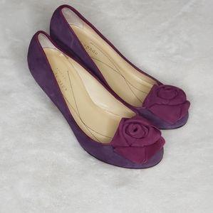 Kate Spade purple suede flower Pumps | sz 5.5